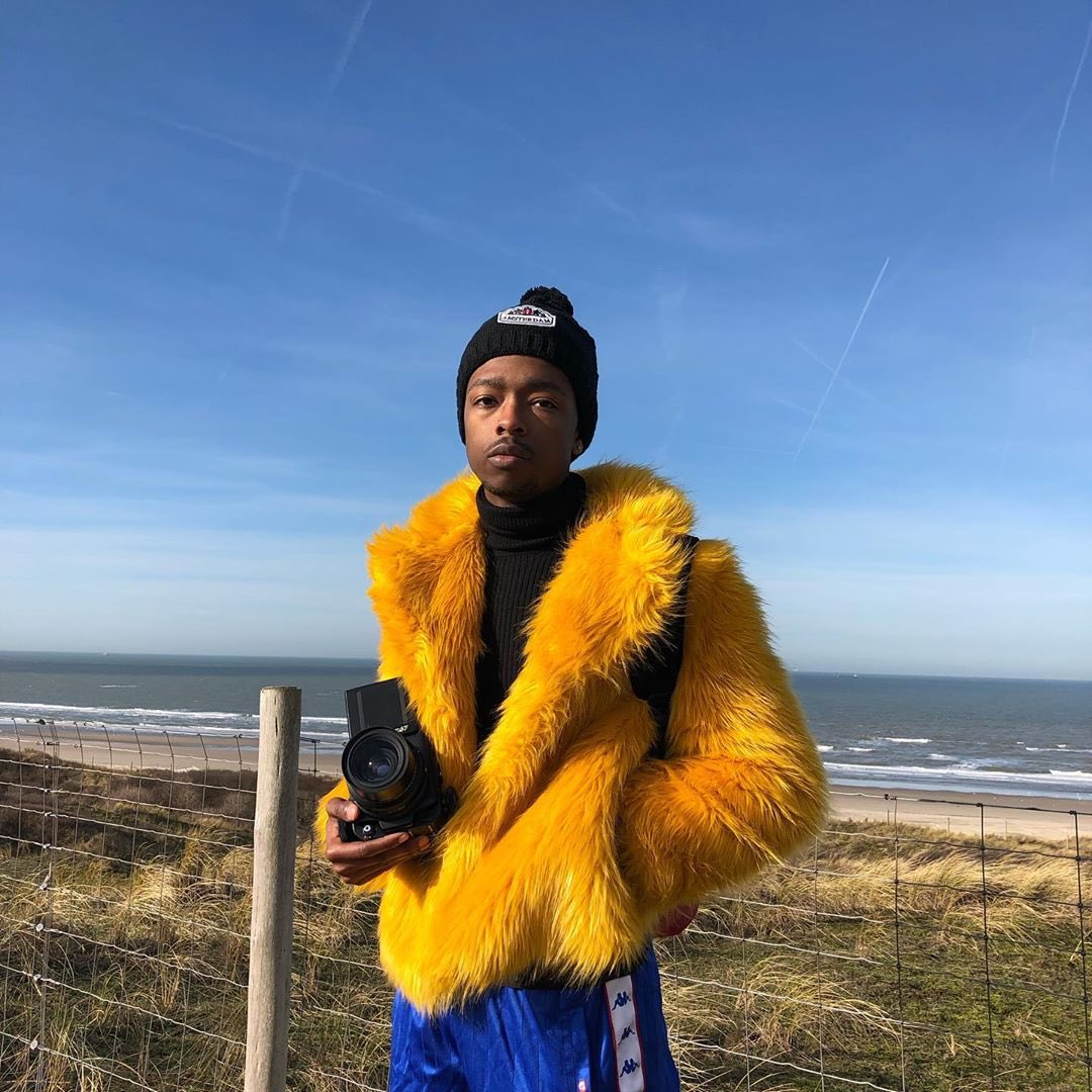 """""""I #ShareBlackStories through my photography, making sure to highlight the Black community as much as I can. Also just through me existing. I am a Black story walking."""" —Myles Loftin (@goldenpolaroid)"""