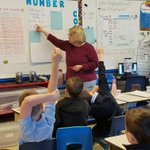 Image for the Tweet beginning: Third graders working on Number