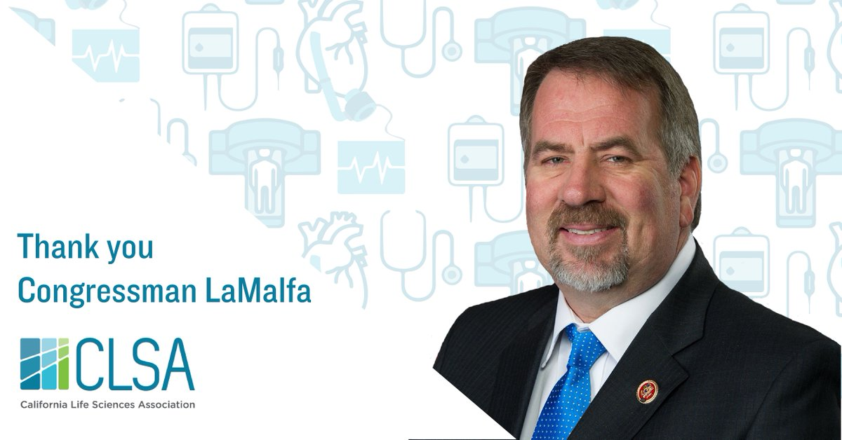Thank you @RepLaMalfa for your work to #RepealDeviceTax! #California's 1,800+ #medtech companies & 81,000+ employees can now refocus on creating new technologies for patients & bringing more #lifesciences jobs to CA. #MedicalDeviceTax #ProtectMedicalInnovation