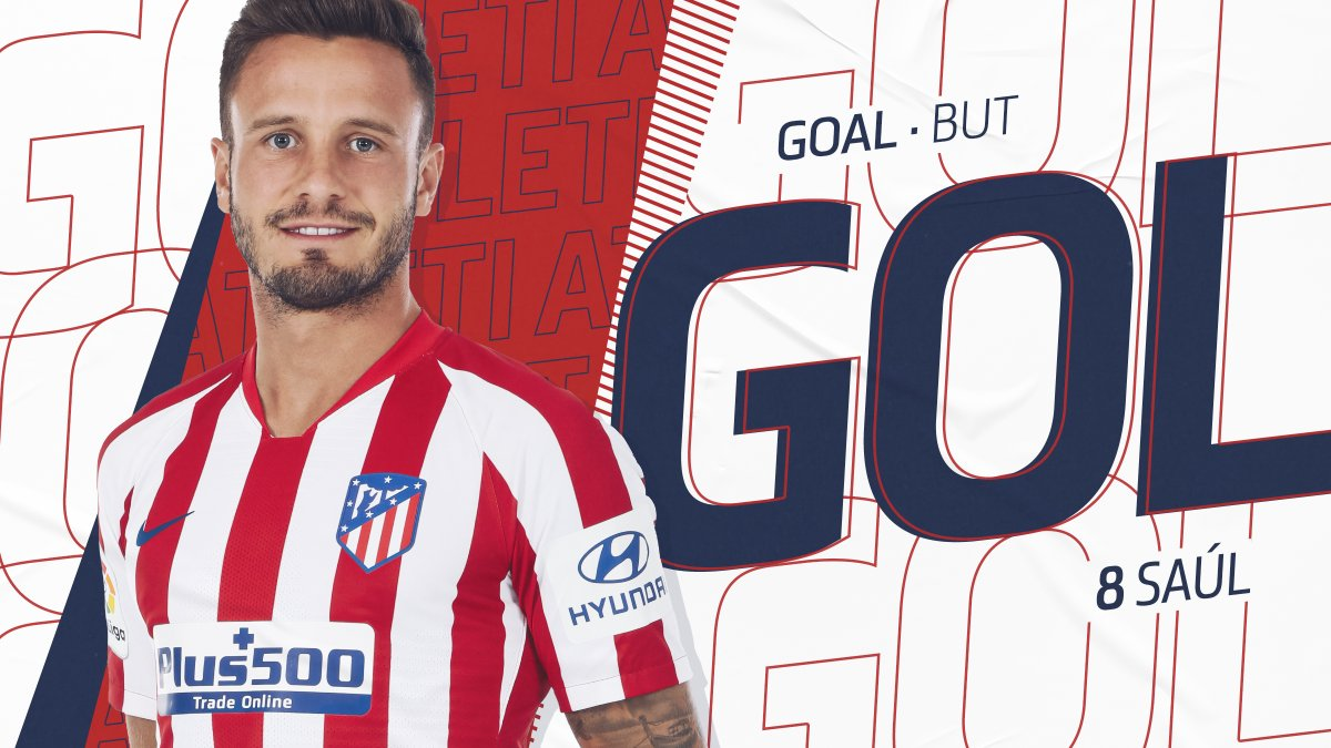 ⏱ 4' [ 1-0 ] G⚽⚽⚽⚽⚽⚽AAAALLLLL!!!  🔥 @saulniguez scores to make it a perfect start! 🔥  ⚽ #AtletiLFC ⭐ #UCL  🔴⚪ #AúpaAtleti