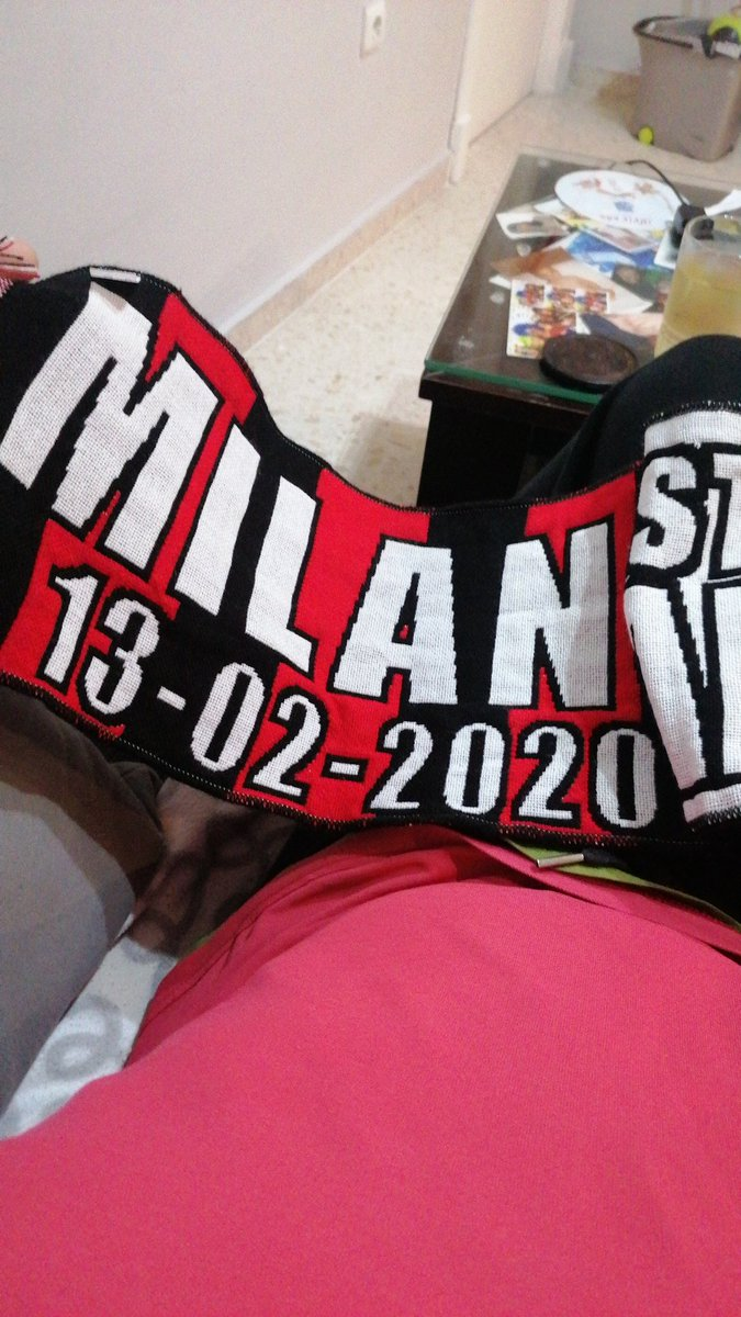 Regalazo que me han traído de la ida de la #CoppaItalia #MilanJuventus 13/02/2020 Forza @juventusfc #FinoAllaFinale