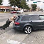 Image for the Tweet beginning: Deputy Melton helping to push