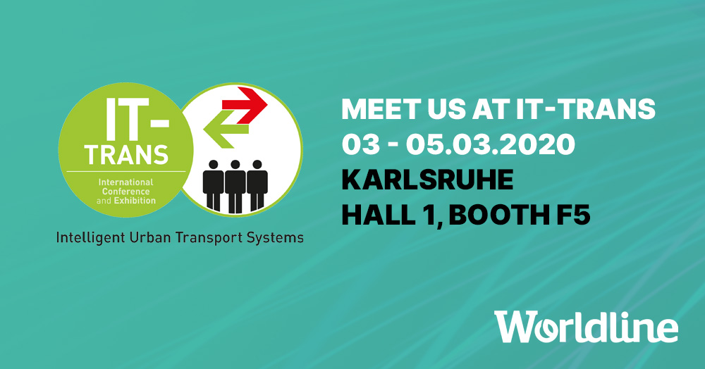 #Worldline is proud to announce that it will once again be present at #ITTrans, the leading trade fair in #digitalization in #transport, at @messekarlsruhe on March 3-5 2020. https://okt.to/upm01U