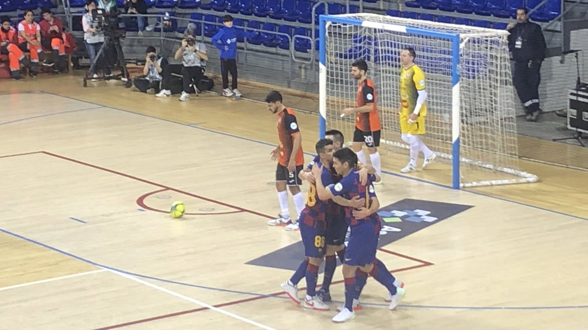 ⚽️ Gol del Daniel  @FCBfutbolsala 4 - 0 Aspil  #ForçaBarça🔵🔴 #SempreFidels #MaiNoCaminaràsSol