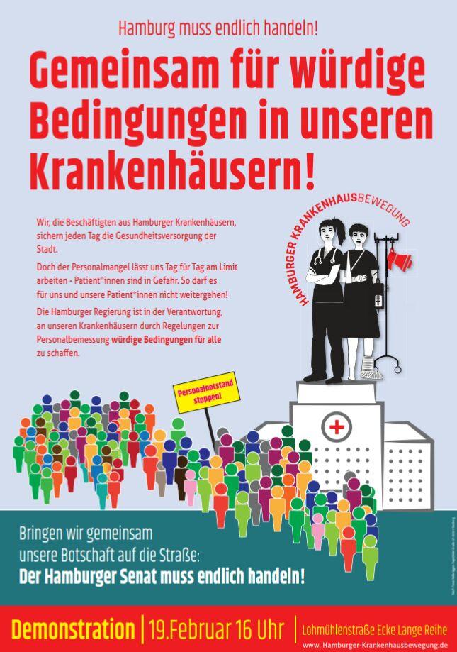 Kommt morgen zahlreich zur Demo am #hh1902 um 16 Uhr AK St. Georg in #Hamburg pic.twitter.com/l8M1dZPANv
