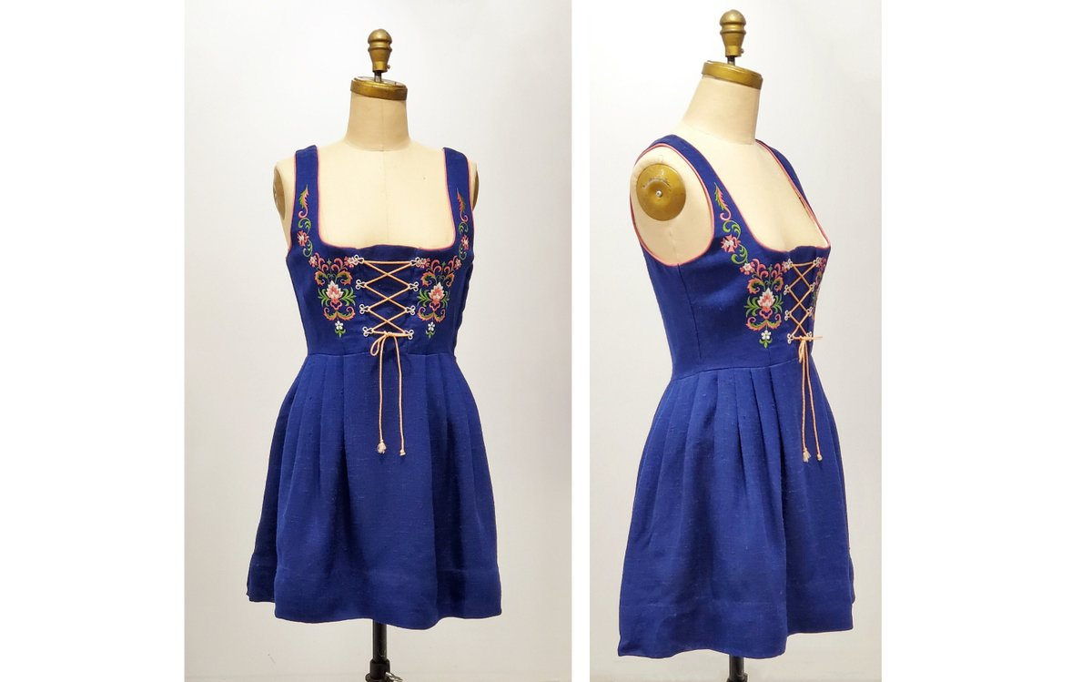 Vintage 1970s blue dirndl with embroidery and lace up bodice dress | 70s German dirndl dress | size small-medium http://tuppu.net/3493724f #onlineshopping #vintageclothing #vintagefashion #sustainable #fashion #retrouverbiz #Vintagelifestylepic.twitter.com/ACtQFi7EIl