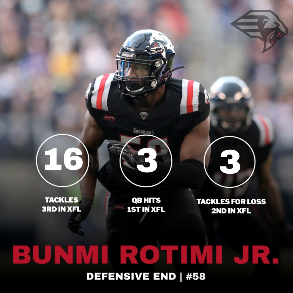 Two games in, and 'Boomy' is putting the @xfl2020 on notice! 🔥😤 @_Forty4_ | #OnDuty