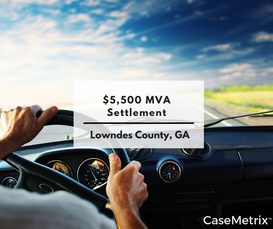 #ThisJustIn: Plaintiff was rear ended by Defendant's vehicle; damage was very slight, no citations were issued and there was no transport to the ER. Neck and back soft tissue injuries with whiplash.  Find this case here in the #CaseMetrix MVA database. http://ow.ly/W7WC50y49D1pic.twitter.com/tKKKBv9XPa