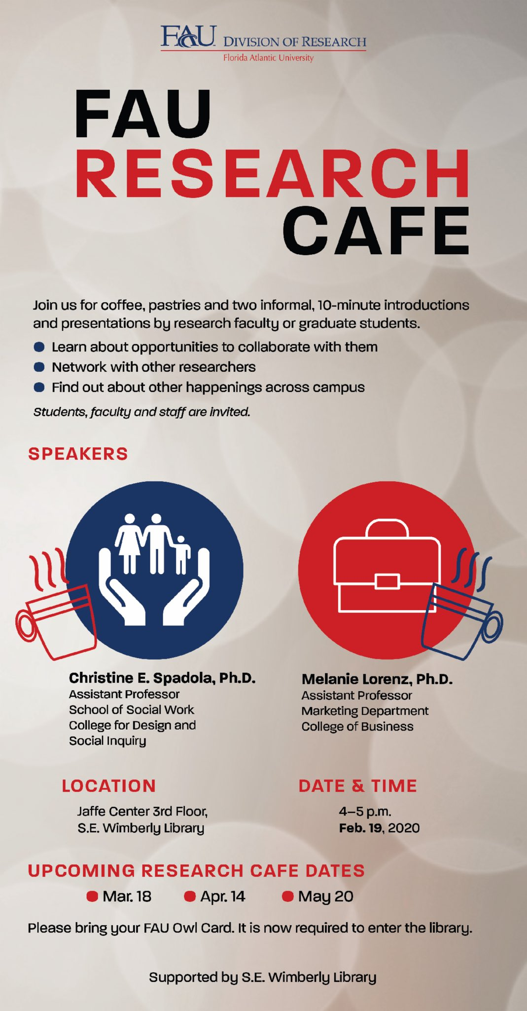 Fau Ouri On Twitter Don T Hesitate To Come Out To The Research Cafe