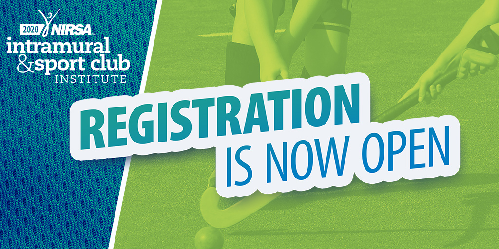 The 2020 NIRSA Intramural & Sport Club Institute is going to be the place to be for any dedicated intramural or sport club professional! Registration is now open! http://ow.ly/offr30qfz0B pic.twitter.com/ibV81oV3TQ