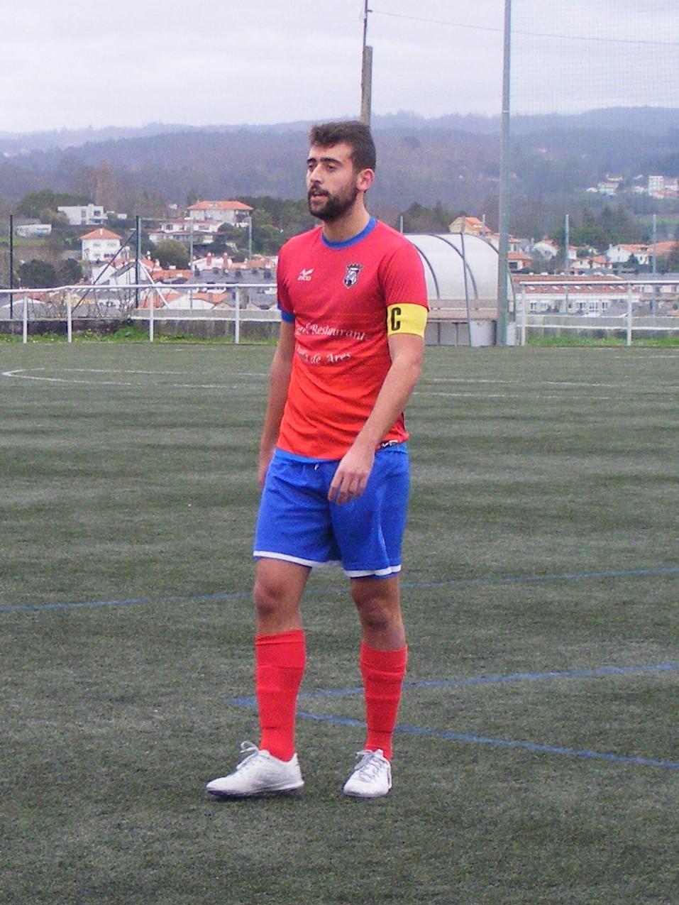 """ADR Numancia de Ares. Alberto Permuy """"Berto"""", Jugador y capitán de Aficionados."""