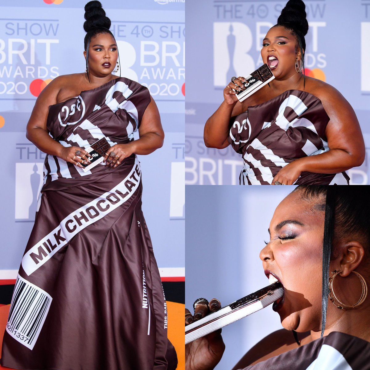 And the winner of the #BritAwards red carpet... @lizzo 💯👏