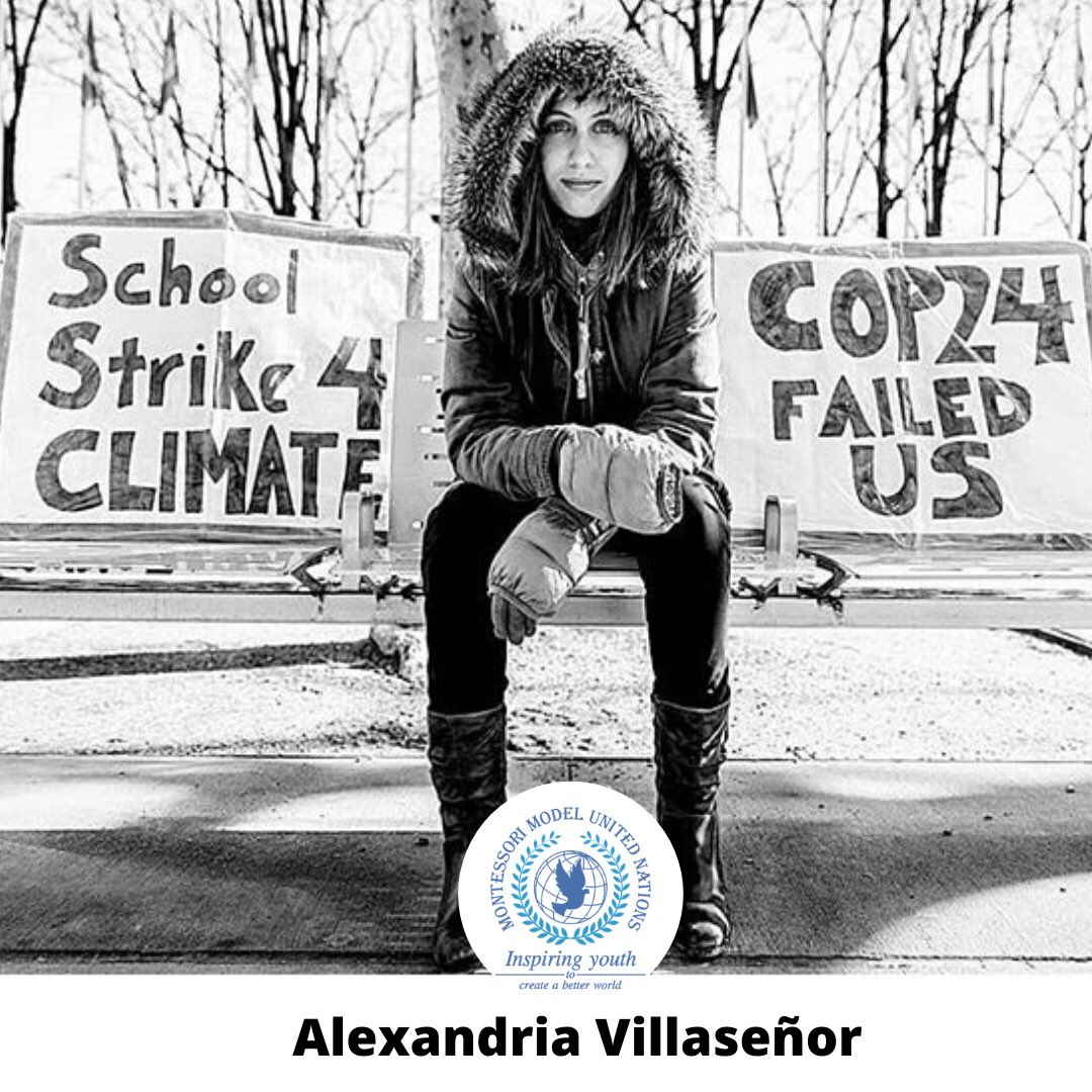 Join us in welcoming @AlexandriaV2005, a 14-year-old climate activist, to the MMUN February Conference!  Frustrated by the lack of progress at COP 24, and inspired by 16-year-old Swedish climate activist Greta Thunberg, Alexandria began her own solo weekly school strike!pic.twitter.com/1l5Ml9XZIH