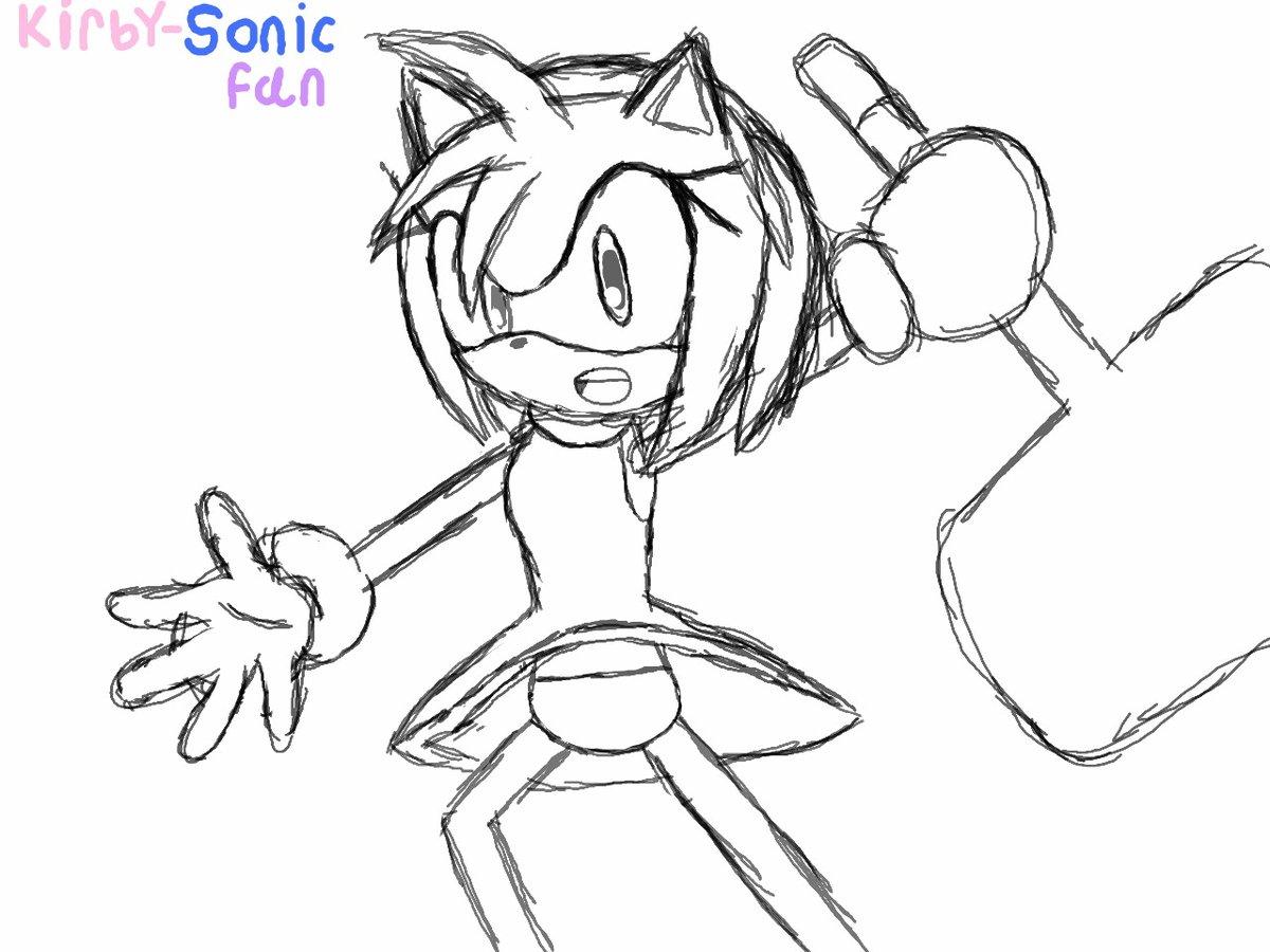 Amy Rose WIP. #Cute #AmyRose #SonicTheHedgehog #AmyArt #FanArt #3DS