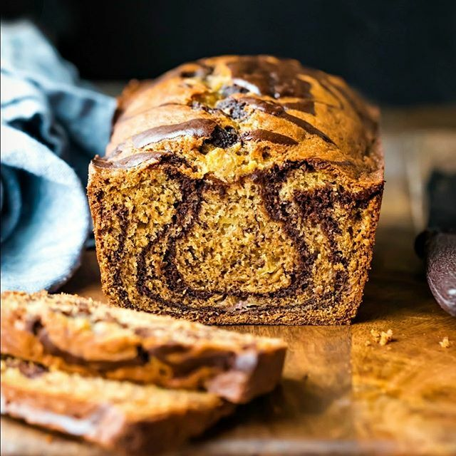Marbled Banana Bread is the delicious way to sneak a little chocolate in banana bread! #bananabread #ihearteating #homemade #bake #breakfast #quickbread #bananabreadrecipe #recipe #food #banana #sweet #yum #dessert #instayum #marbled #chocolate #baking #…
