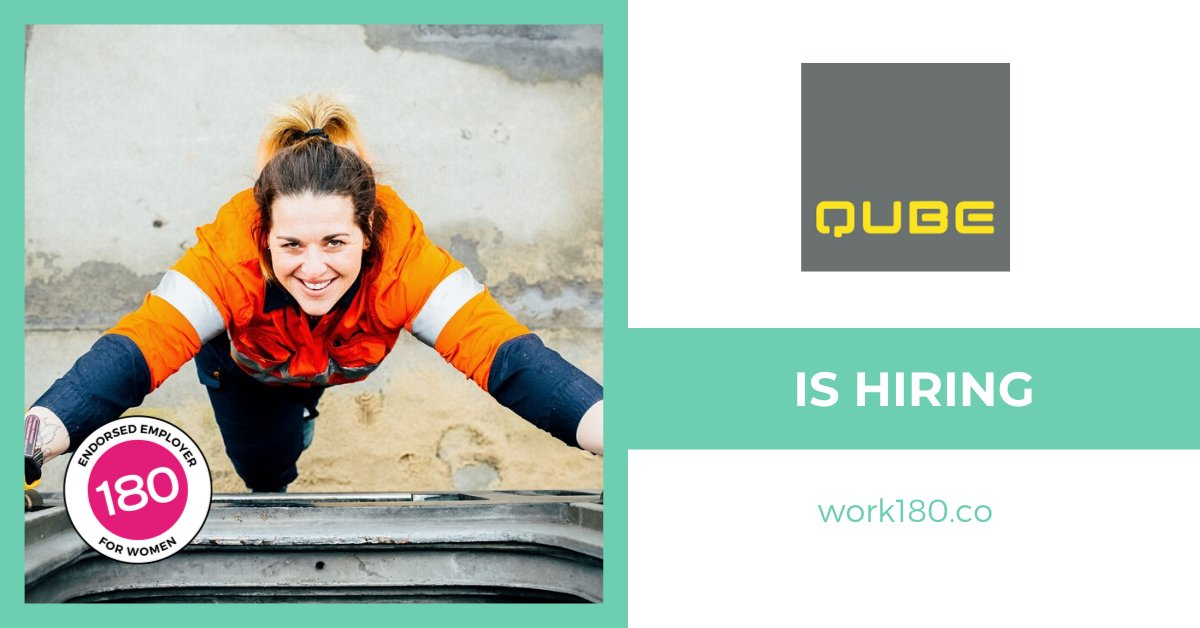 Want to work for an employer that is committed to providing career pathways for women? @QubeHoldings is looking for talented people to join their team, so what are you waiting for? Check out the roles available today: https://buff.ly/2Sp7H5d    #WORK180 #GenderEquality #Diversitypic.twitter.com/JFXFvNh9N0