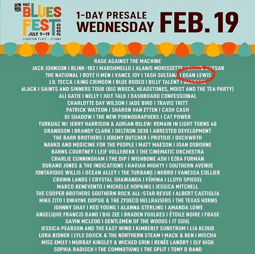 Canada 🇨🇦 see you in July for Bluesfest🧡 first of many exciting things xx