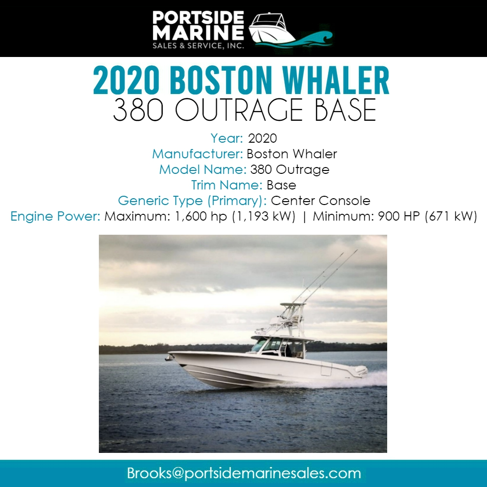 The 380 Outrage® delivers a full-spectrum, pinnacle experience, performing beautifully as an offshore fishing platform, an entertaining vessel, a yacht tender or all of the above. - Learn more:   #portsidemarinesales #cicero #bostonwhaler #boat