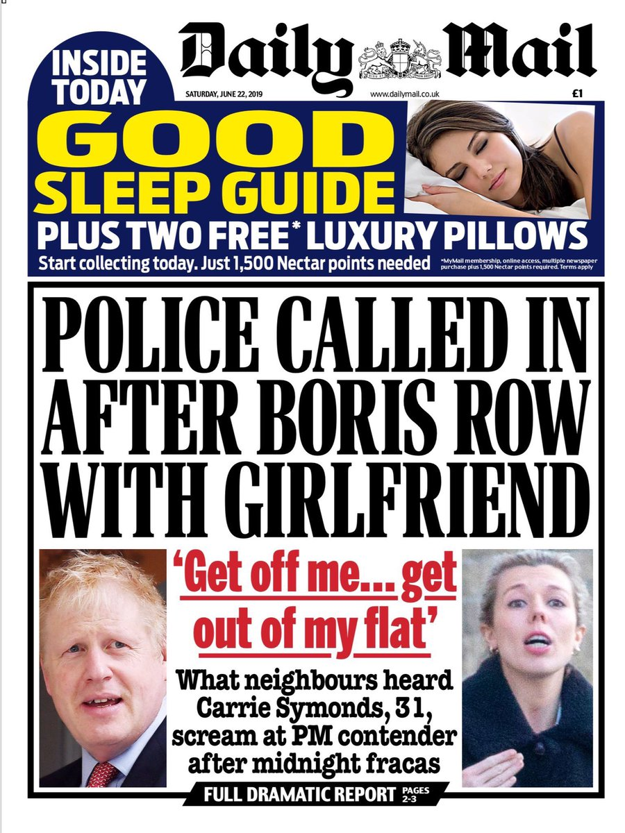 Wonder why the media have forgotten about this domestic incident at Johnson's flat? #NotMyPM<br>http://pic.twitter.com/GjdxIuEYlh