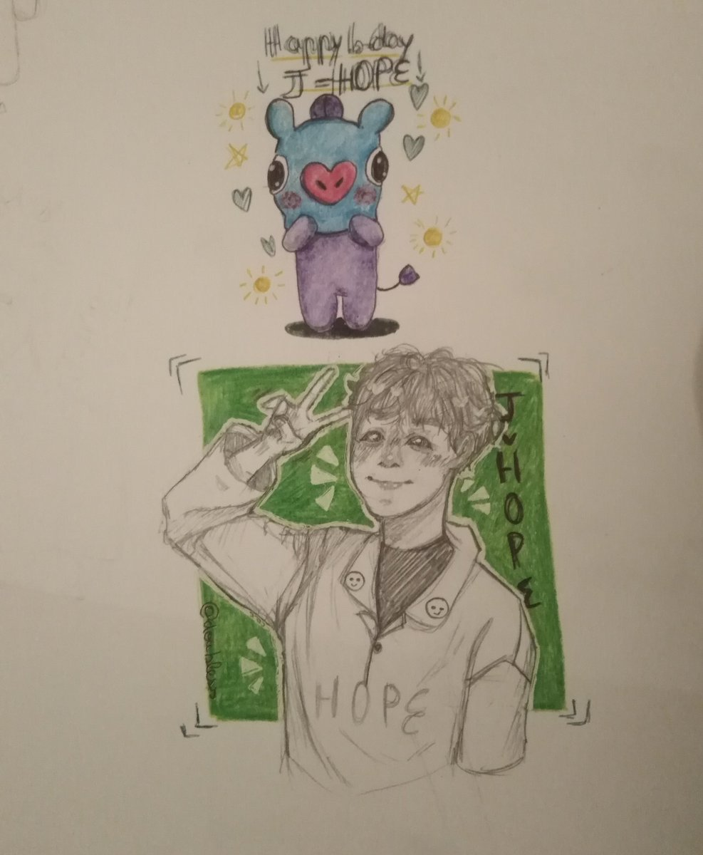 It is the sunshine birthday, even if I'm really late, I just hope he has a good day☀️💛 HAPPY BIRTHDAY JUNG HOSEOK ☀️☀️☀️☀️☀️☀️☀️ #junghoseok #jhope #mang #birthday #drawing #cute #btsfanart #fanart #jhopefanart #junghoseokfanart #drawing