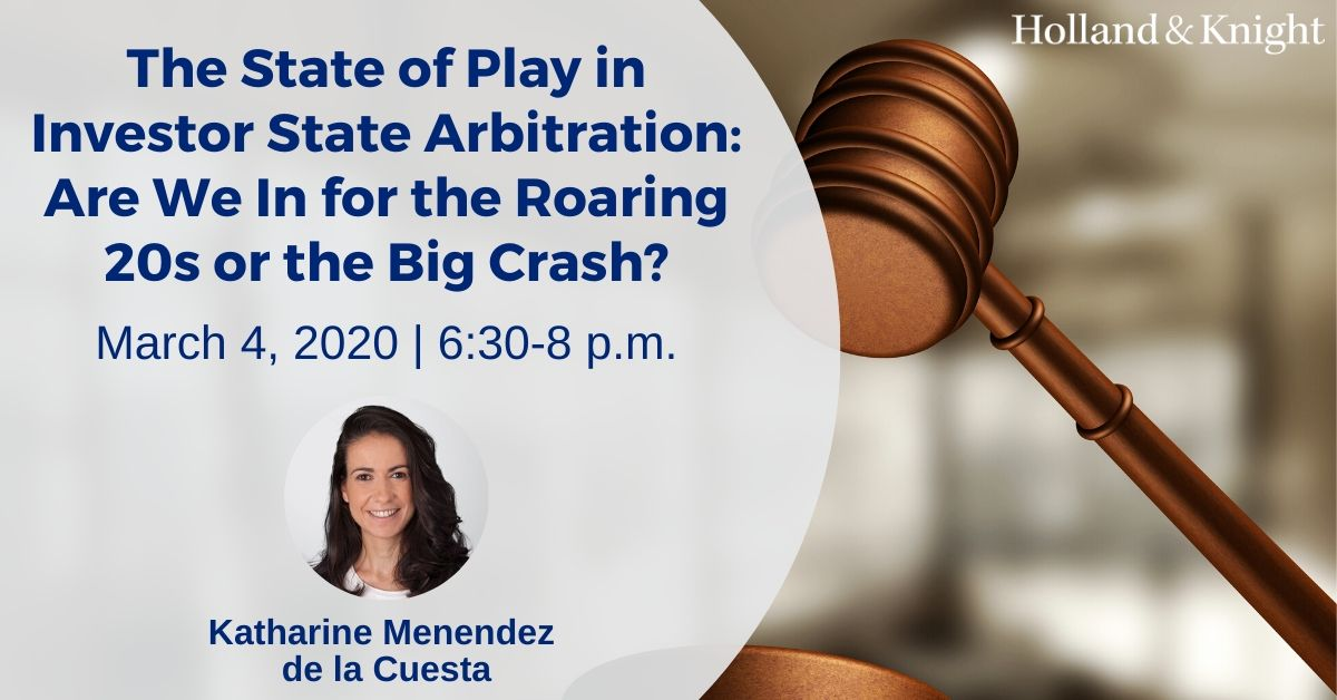 #Litigator Katharine Menendez de la Cuesta will speak on a panel addressing issues related to the #USMCA, career prospects in intl #investment #arbitration and the future of investor state arbitration. @NYCBarAssn http://bit.ly/39KrSAn