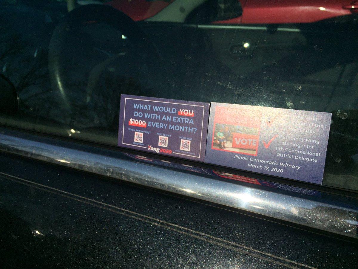 Parked car Metra station-banking. #StillVotingYang @Il4Yang #IllinoisForYang