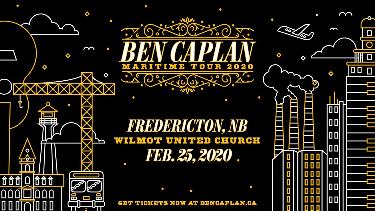 🚨 Contest Alert 🚨 We're giving away tickets to see @bencaplanmusic in Fredericton, New Brunswick with Laurent Bourque (@bourquelaurent) on Feb 25! Enter here for a chance to attend the show for free with a friend:
