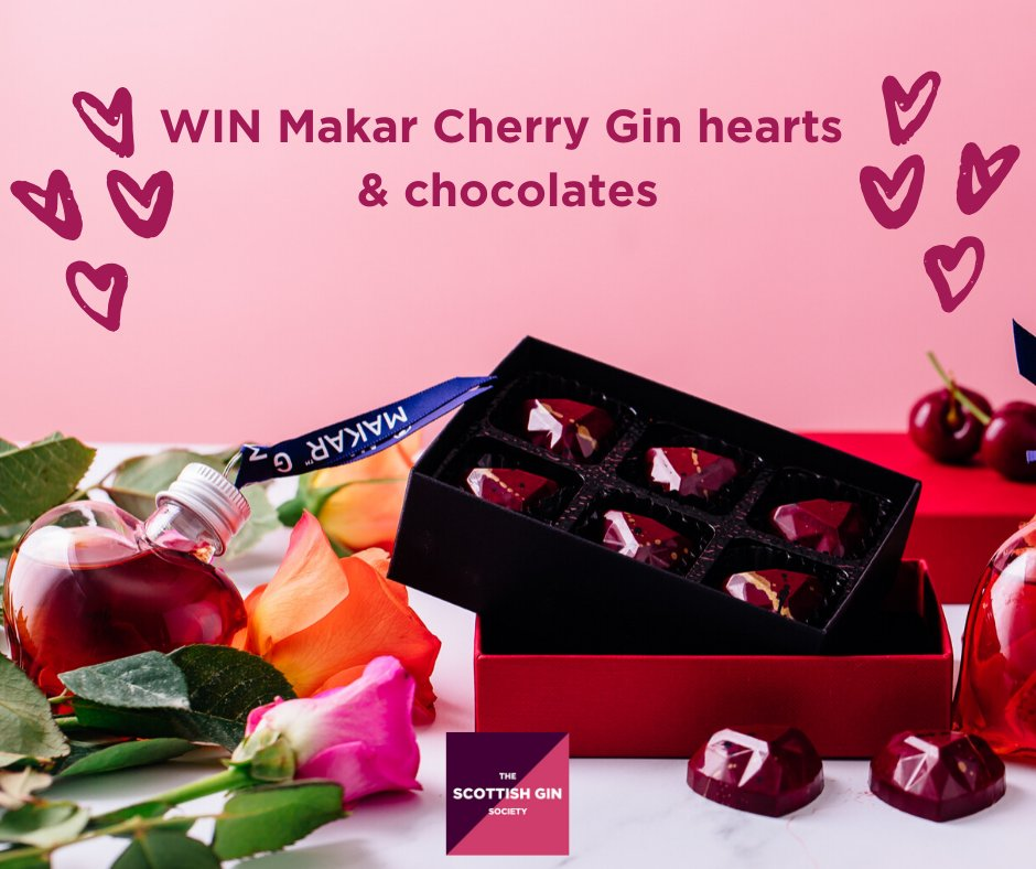 WIN GIN! If you or a friend were disappointed with Valentines Day, here's your chance to cheer yourselves up with @MakarGlasgowGin Cherry Gin & @SugarsnapChoc!  To enter follow Makar Gin, read about the gin at https://buff.ly/2GBblCw  and comment! Winner drawn 23/2. Over 18s only.