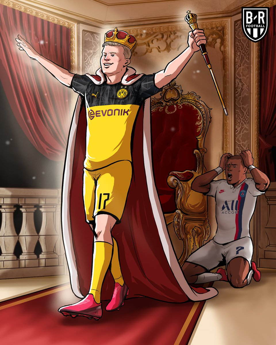Erling Haaland lifts Dortmund over PSG in the first leg of the Round of 16 🌟 @brfootball