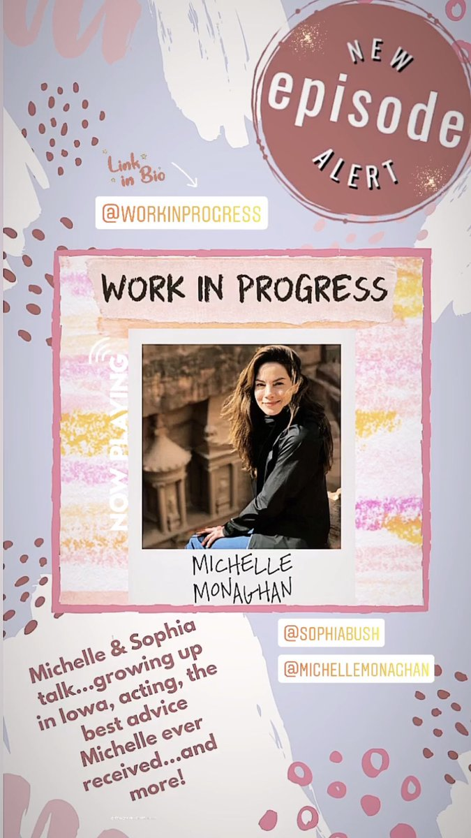 Don't miss today's all new #WIP with @SophiaBush & special guest, @realmonaghan — link in @workinprogress_ bio!!