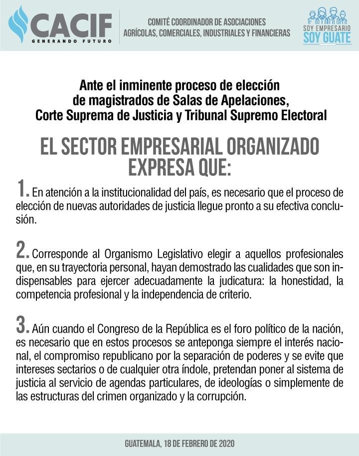 test Twitter Media - Tras denuncia de Feci por amaño de Cortes, Cacif pide que elijan pronto. https://t.co/jDIq9k4j4K