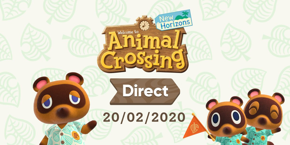 Tune in on February 20th at 15:00 CET for a roughly 25-minute livestreamed #AnimalCrossing: New Horizons Direct, featuring an in-depth look at Nook Inc.'s Deserted Island Getaway Package! #ACNH<br>http://pic.twitter.com/m1t6Yn9h3N
