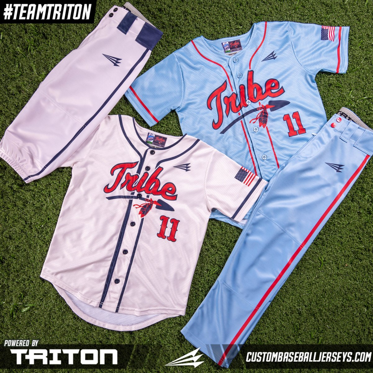 The Tombigbee Tribe 10U in Mississippi is wearing #Triton Relaxed and Knicker pants. What's your pick? 👍Knickers. 🙋♂️Relaxed. Find out more here.   #teamtriton #custom #authentic #original #baseball #jerseys #baseballjersey #baseballswag #swag