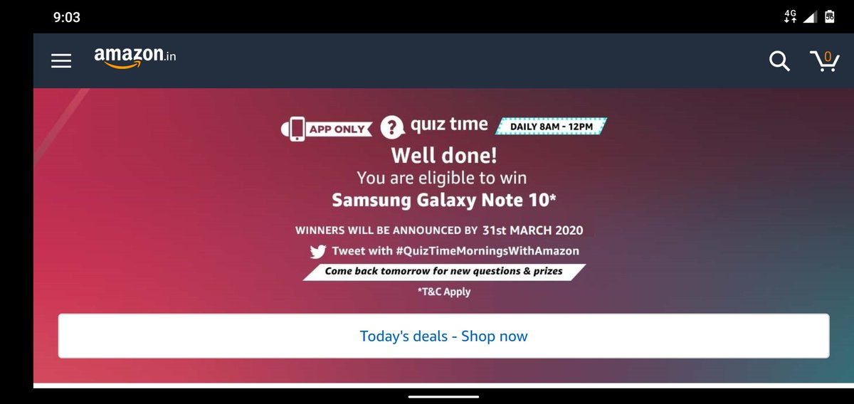 #QuizTimeMorningsWithAmazon Awesome samsung galaxy Note 10 Beautiful absolutely beautiful Note 10pic.twitter.com/spEDinpQxK