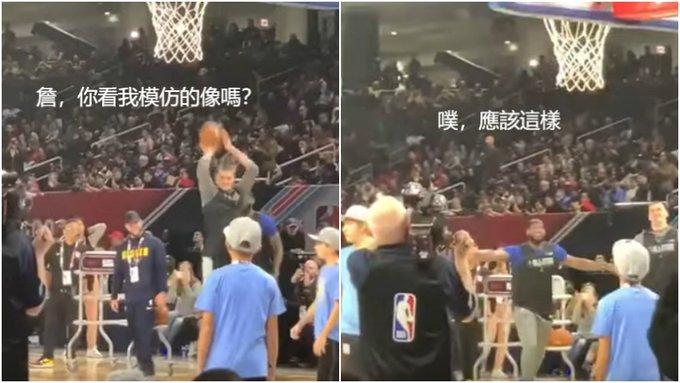【影片】太搞笑了!明星賽熱身Jokic模仿LBJ投三分,詹皇現場指導:應該這樣子-籃球圈