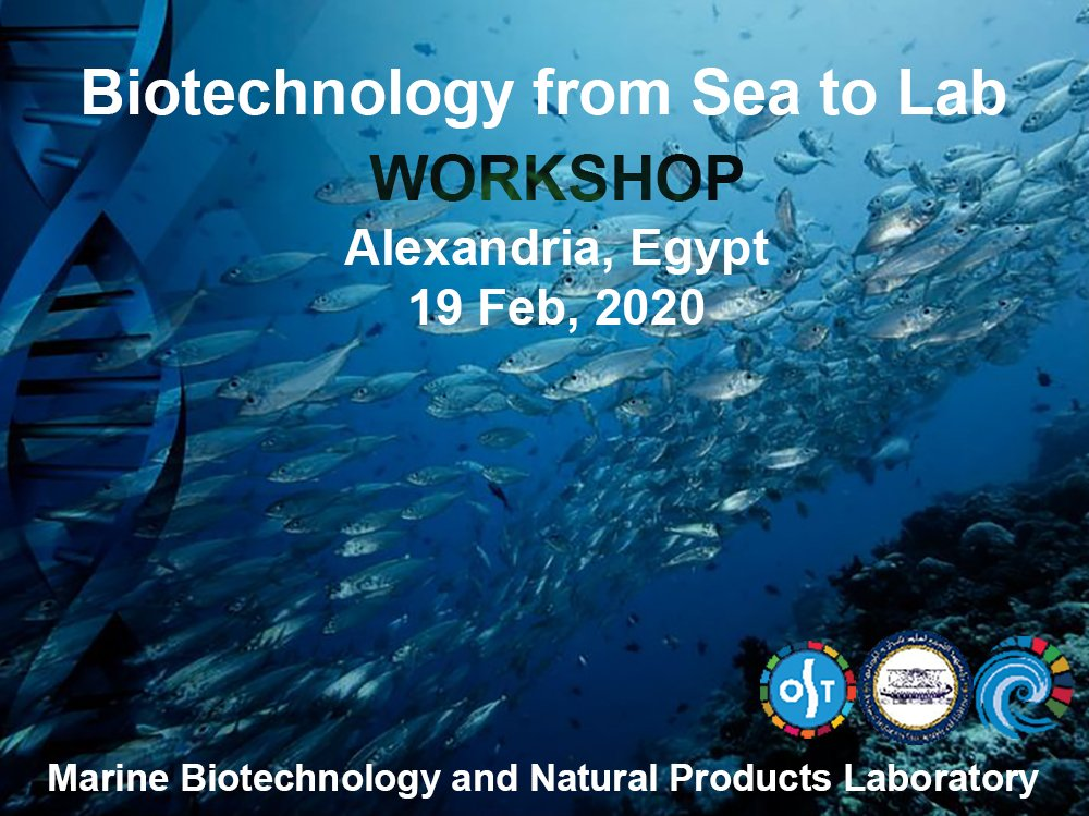 Heading to participate in Biotechnology Workshop 'From Sea to Lab' at NIOF