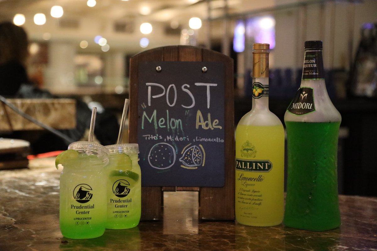 "Coming to @PostMalone tonight? Be sure to try these awesome food and drink items!   LOCATIONS:  Posty's Buffalo/BBQ Chicken Bowl: East and Caesars Lounges Buffalo Chicken Pizza: All Villa stands Post ""Melone"" Ade: All bars"