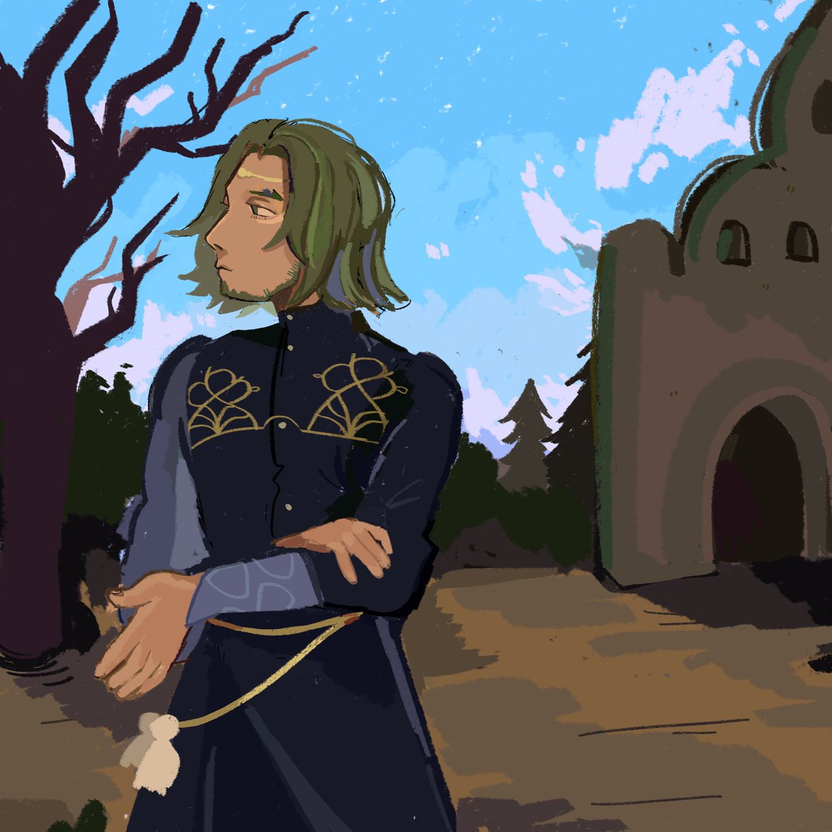 Three Houses is my first fire emblem game and I really didn't expect to like Seteth so much but I'm having fun  #fe3h