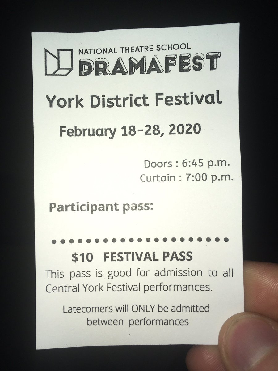 It's time for another year of watching the @NTSDramaFest to begin! Can't wait to see what you've got to offer York Region! pic.twitter.com/5tmZxtEURP