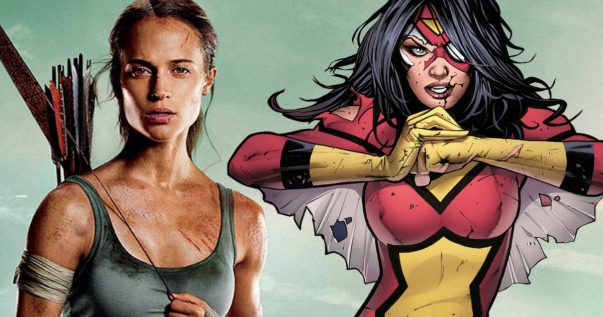 According to a new rumor, @SonyPictures is eyeing Alicia Vikander as the front runner to play Jessica Drew/Spider-Woman!  Via: @The_Illuminerdi #SpiderWoman #Sonypic.twitter.com/urcY4bBTnU