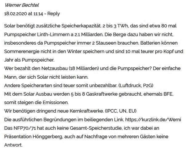 Energy Blog ETH Die Strategie des Bundesrats wird die benötige Solarenergie nicht liefern. https://blogs.ethz.ch/energy/swiss-solar-power/…  An die Speicher denken sie nicht. http://kurzlink.de/Werni  #es2050 #abst20  Dafür wurde ich von  Energy Blog @ ETH Zürich @ eth_energy_blog geblockt pic.twitter.com/dgLVCd4smC