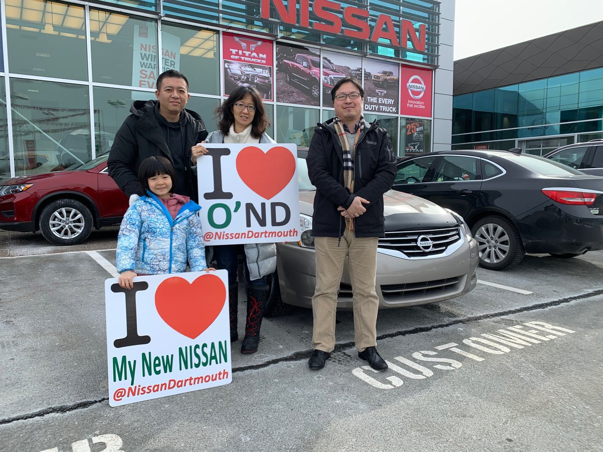 We would like to say a HUGE thank you and congratulations to Jing Yuan and family! They are incredibly happy to be driving away in their new Altima! Thanks again from Nelson Xu and the entire team here at @NissanDartmouth  #oregans #nissan #nissandartmouth #newcar #happycustomerpic.twitter.com/pehyDfkKev