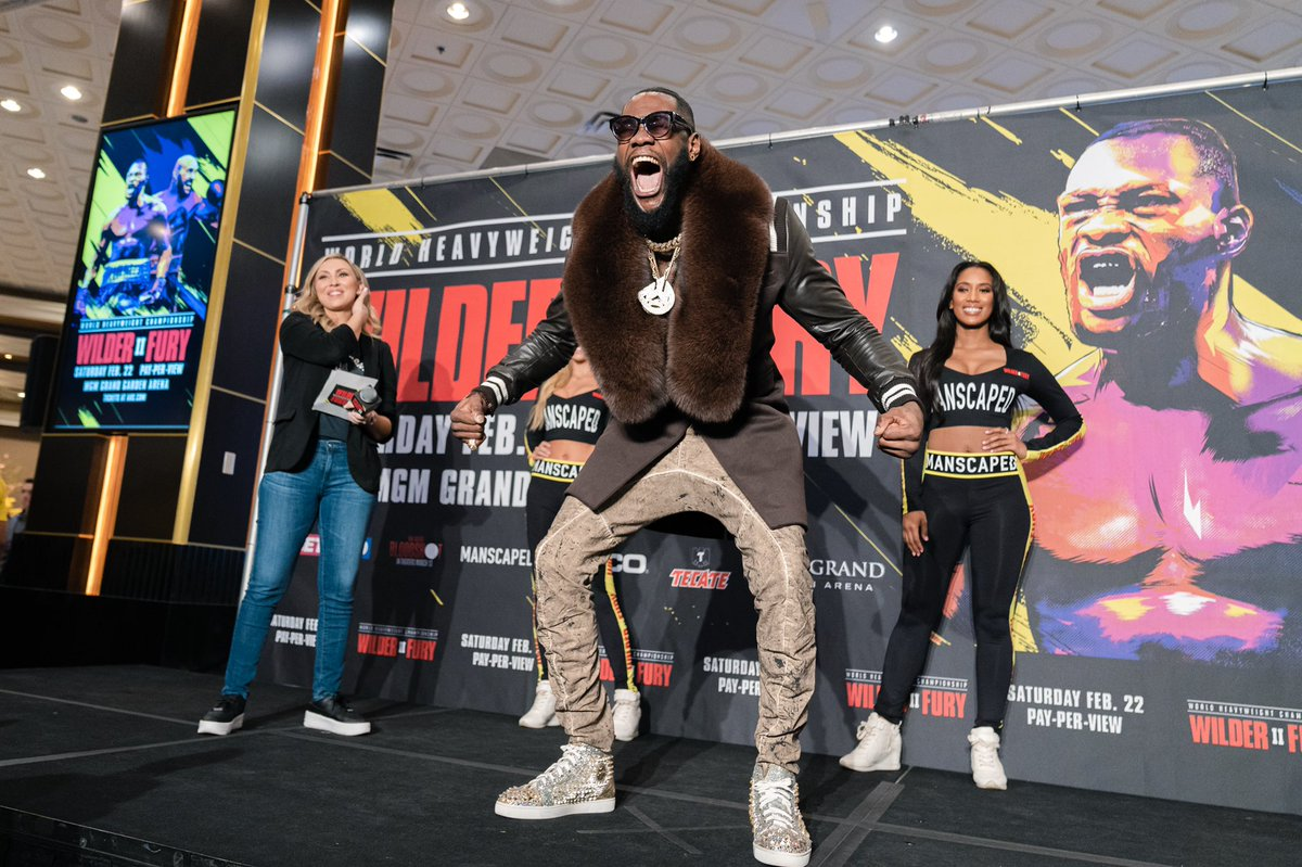 Fee Fi Fo Fum.  I can't wait to knock out this gypsy BUM. #WilderFury2 #BombZquad #GrandArrivals https://t.co/CpVCbODrDY