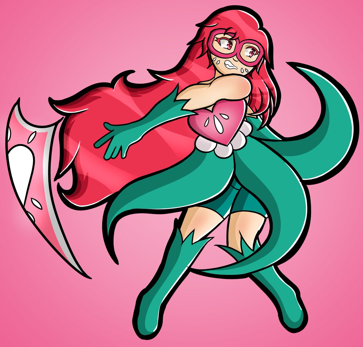 some fun art of my main character Strawberry, and for my potential webcomic and card game. #ocs  #strawberry #superheroes pic.twitter.com/R7jp6AZHck