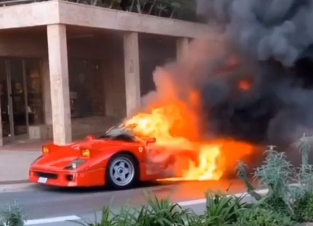 Ferrari F40 pega fogo em Mônaco, e flagra é feito por ex-piloto da MotoGP https://glo.bo/39PMkQB #G1