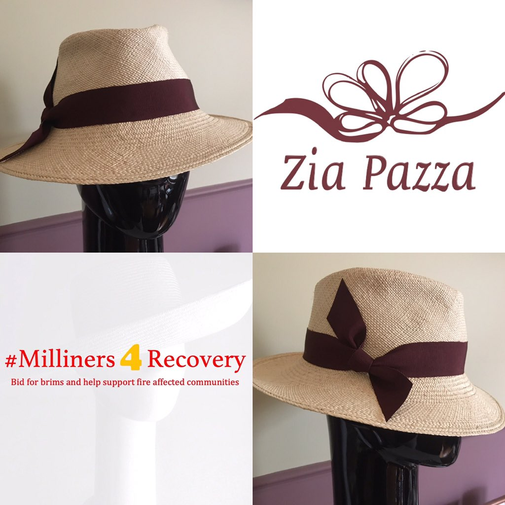 My final #milliners4recovery Summer hat is about to be mailed. Now to start promoting our Winter Warmer hats. Hats made from wool and felt for everyone, everyday, everywhere.  We raised $7300 for @FundGippsland @blazeaid @RedCrossAU #vicbushfirefund with our first auction.pic.twitter.com/DKVa1fOcT5