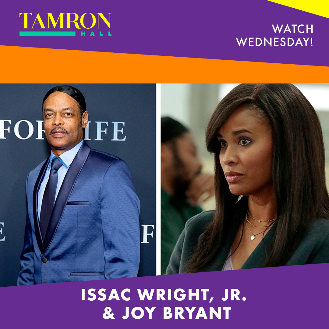 Don't miss @IsaacWrightJr and @realjoybryant tomorrow on @TamronHallShow talking about #ForLife. Go to  for time and channel.