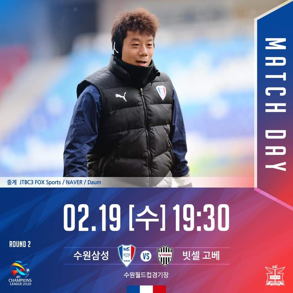 It's Match Day.  [ACL Group Stage 2 round]  Group 2  Suwon Samsung Bluewings v Vissel Kobe  Big Bird, 19:30 Local time. [GMT +9:00] pic.twitter.com/klEcvVlBuZ