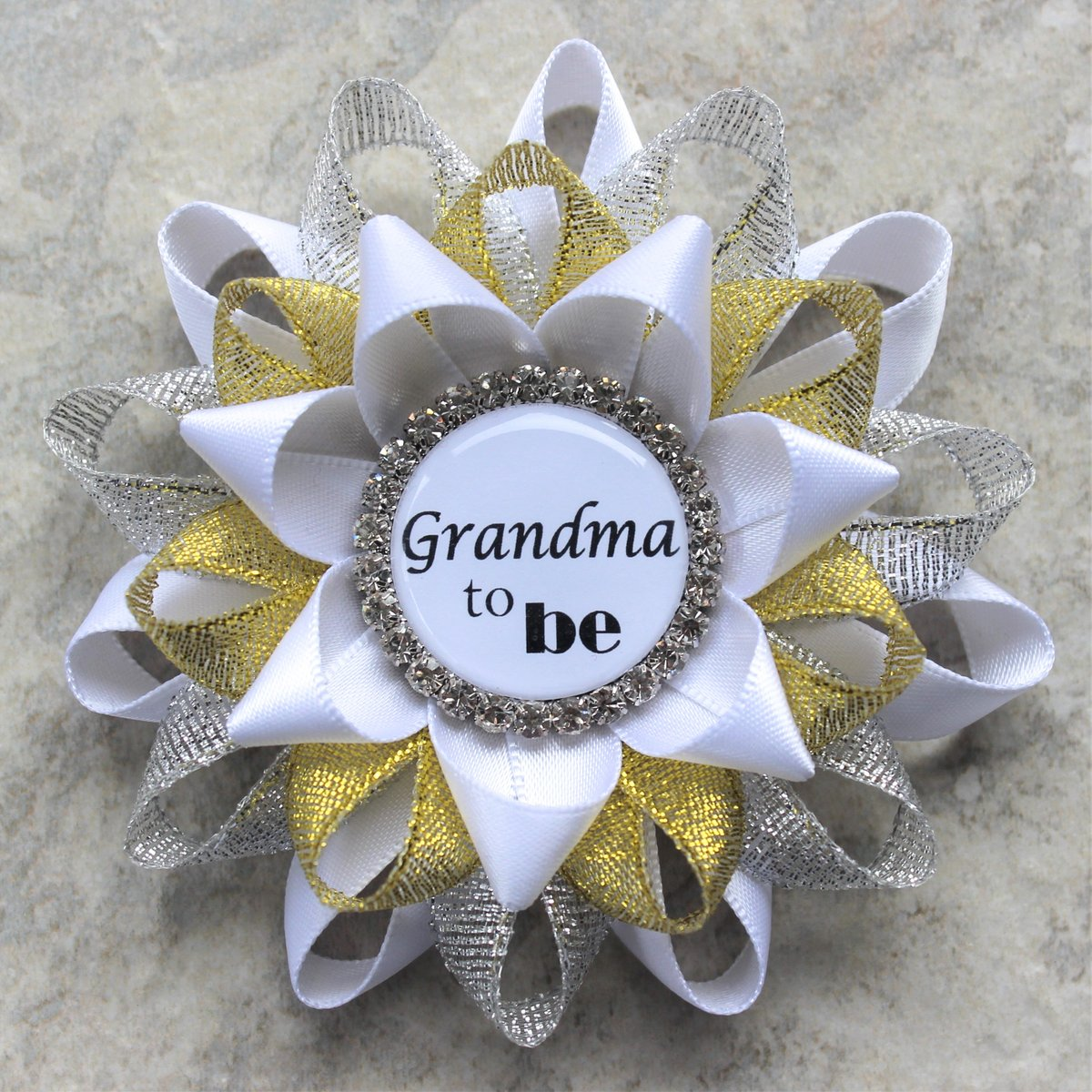 Twinkle Little Star Baby Shower Decorations, Baby Shower Pins, Baby Shower Ribbons, New Grandma Gift, Personalized, White, Silver, Gold  #etsyshop #shopsmall #sale #shopping #etsy #shop #store