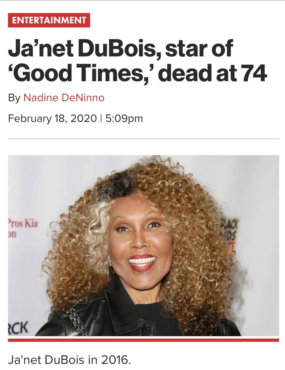 Rest in peace, Janet Dubois. Thank you for the role of a lifetime. 🙏🏽 #willonawoods #goodtimes #janetdubois